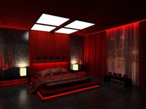 rojo en decoracion interiores